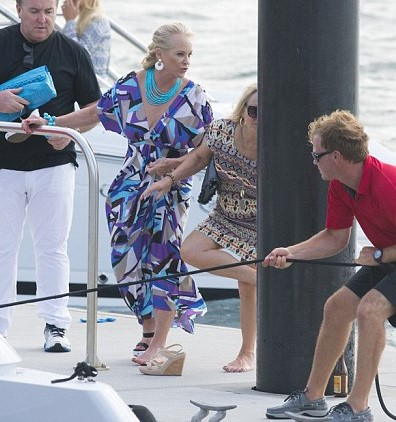 Nancy Laurie aboard her new $200 million yacht
